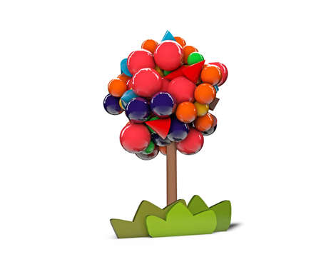gumball tree isolated on white background photo