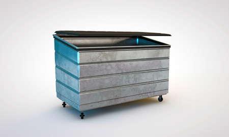 dumpster isolated on white background Stock Photo - 14417508