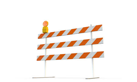 roadblock: roadblock isolated on white background Stock Photo
