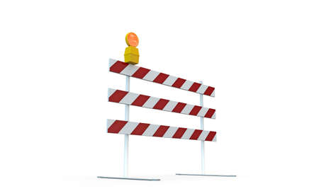 roadblock isolated on white background photo