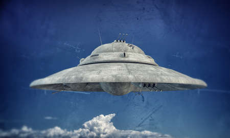 nazi ufo haunebu up in the sky photo