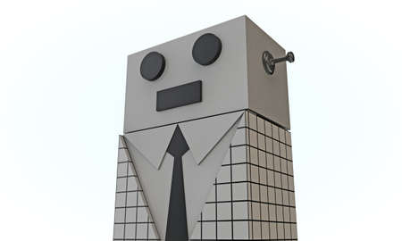 elegant robot with black tie photo