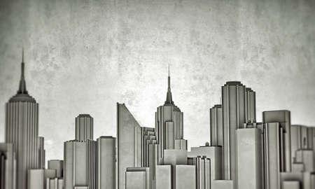 v centru města panorama izolovaných na bílém pozadí photo