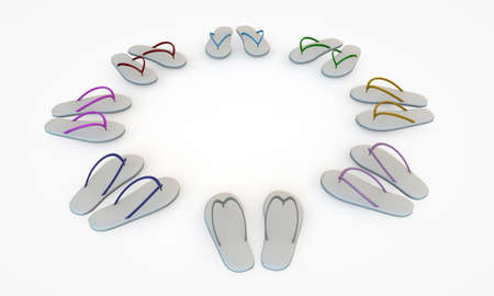 flip flops isolated on white background photo