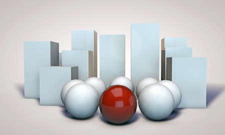 spheres isolated on white background photo