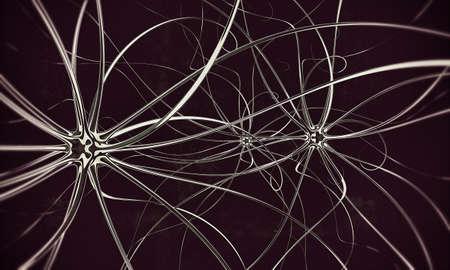 motor neuron: neurons isolated on black background