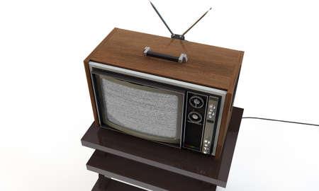 old tv isolated on white background photo