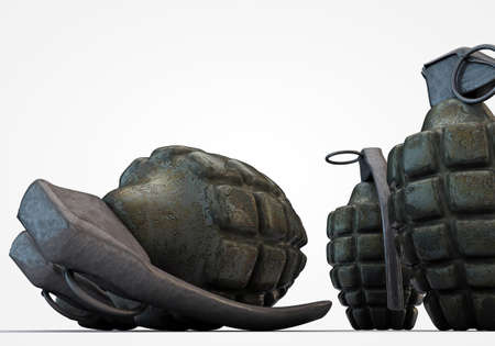 grenades isolated on white background photo