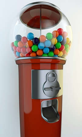 gum: gumball machine old style isolated on white background