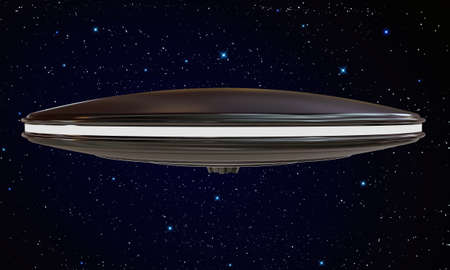 ufo metal spaceship lost in space Stock Photo - 15194801