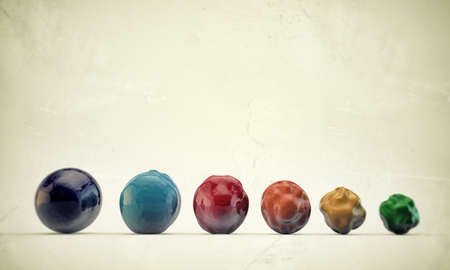gumballs: deformed gumballs in old grunge photo Stock Photo