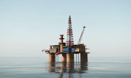 oil platform in the sea Standard-Bild