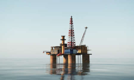 oil platform in the sea Stock fotó