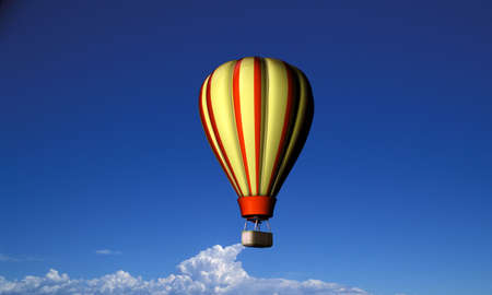 air balloon flying in blue sky Stock Photo - 15382754
