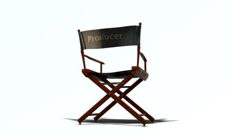 director chair isolated on white background photo