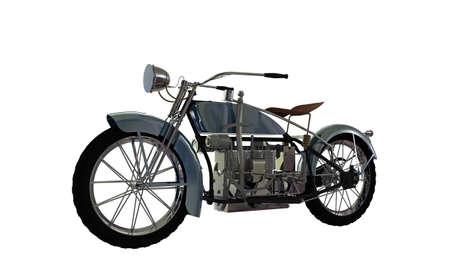 old motorcycle isolated on white background Standard-Bild