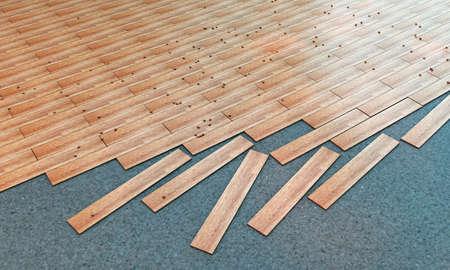wooden parquet Stock Photo - 15529004