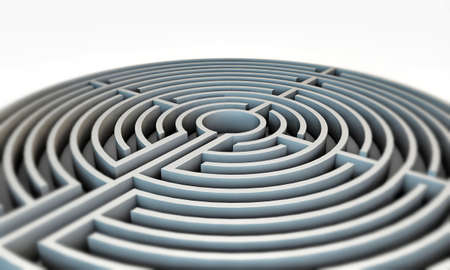 labyrinth isolated on white background photo