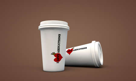 coffee cup take away isolated on brown background Stock Photo - 15710877