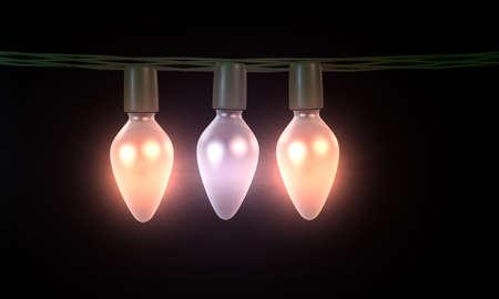 seasonal light display: christmas light bulbs