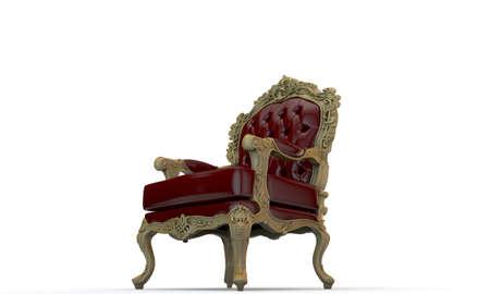 regal armchair isolated on white background Standard-Bild