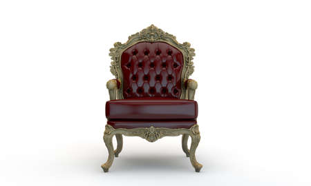 regal armchair isolated on white background photo