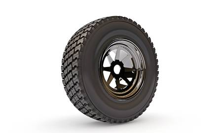 tire isolated on white background photo