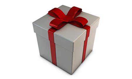 gift box isolated on white background Stock Photo - 16188044