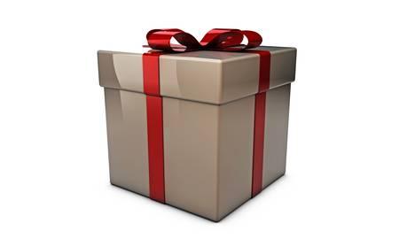 gift box isolated on white background Stock Photo - 16188045