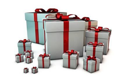 gift boxes isolated on white background Stock Photo - 16188131