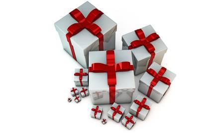 gift boxes isolated on white background Stock Photo - 16188064