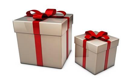 gift boxes isolated on white background Stock Photo - 16188058