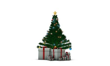 christmas tree isolated on white background Stock Photo - 16188130