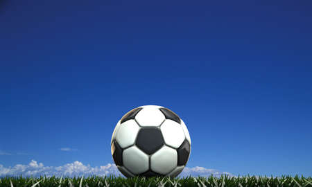 soccer ball on green field Stock Photo - 16269383