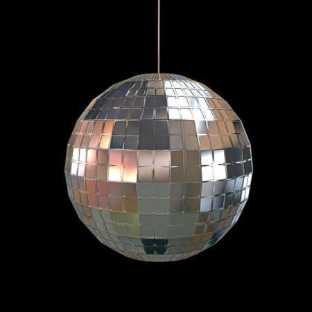glitter ball isolated on white background photo