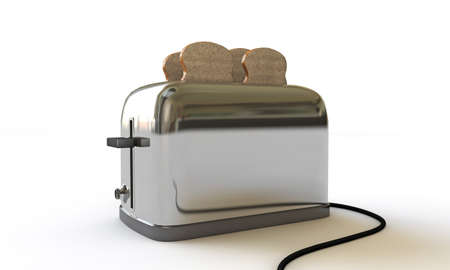 toaster isolated on white background