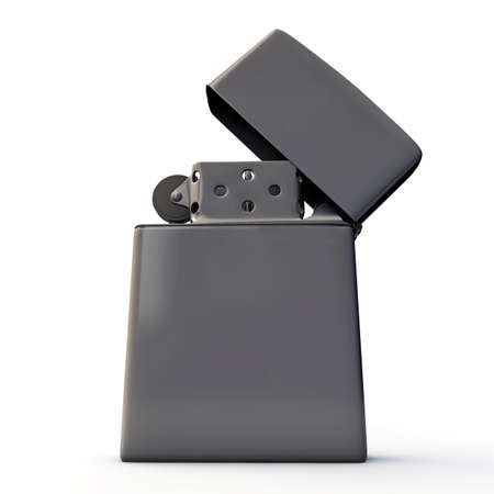 metal lighter isolated on white background Stock Photo - 16601151