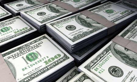 american dollars Standard-Bild