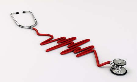 stethoscope medical tool isolated on white background Stock Photo - 16666639