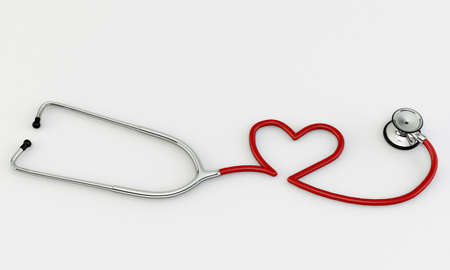 stethoscope medical tool isolated on white background Stock Photo - 16666628