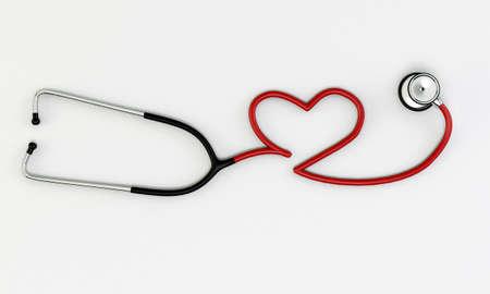 stethoscope medical tool isolated on white background Stock Photo - 16666634