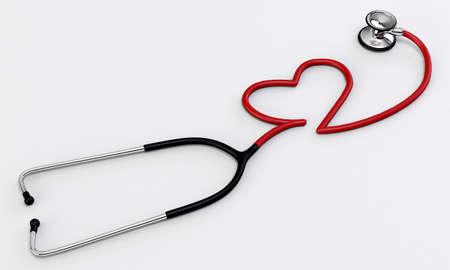 stethoscope medical tool isolated on white background Stock Photo - 16666633