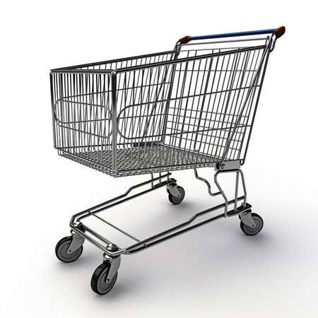 shopping cart isolated on white background Stock Photo - 16689503