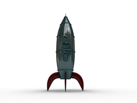 space rocket isolated on white background photo