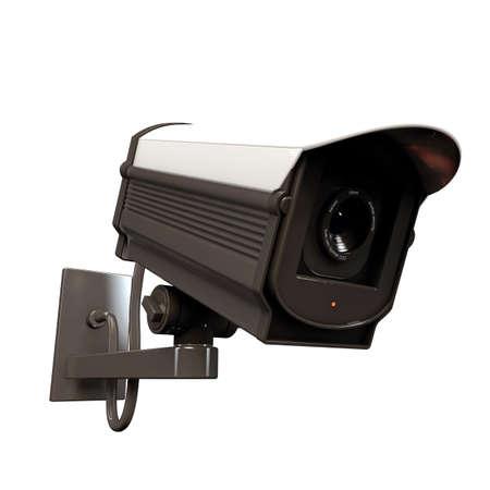 security camera isolated on white background