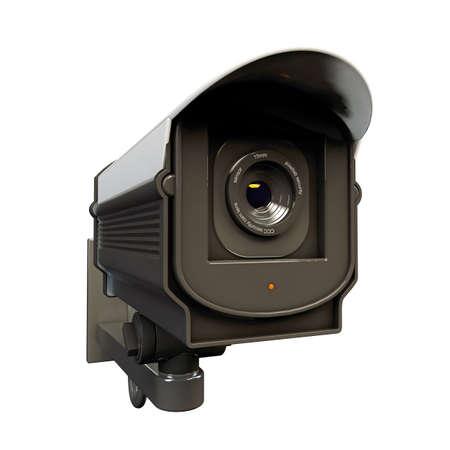 security camera isolated on white background Stock Photo - 16819222