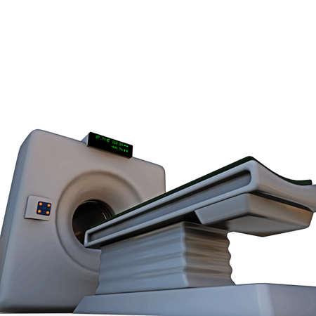 tomograph isolated on white background photo