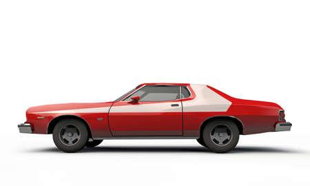 ford: fanous silhouet auto geïsoleerd op witte achtergrond Stockfoto