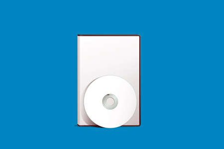 rewrite: dvd cover isolated on blue background