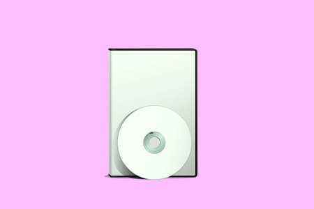 rewrite: dvd cover isolated on pink background